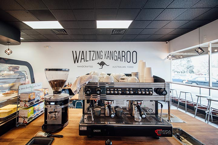 Waltzing Kangaroo Bakery Design