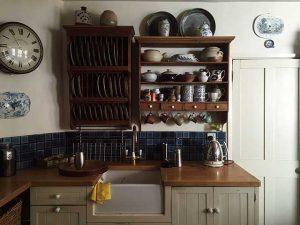 kitchen storage above sink