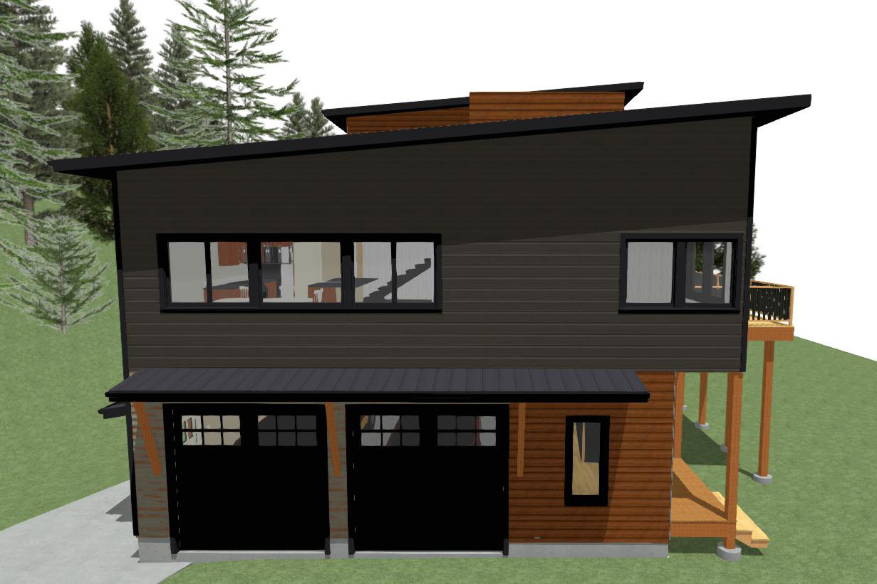 Digital Rendering view 1 of 2 story home