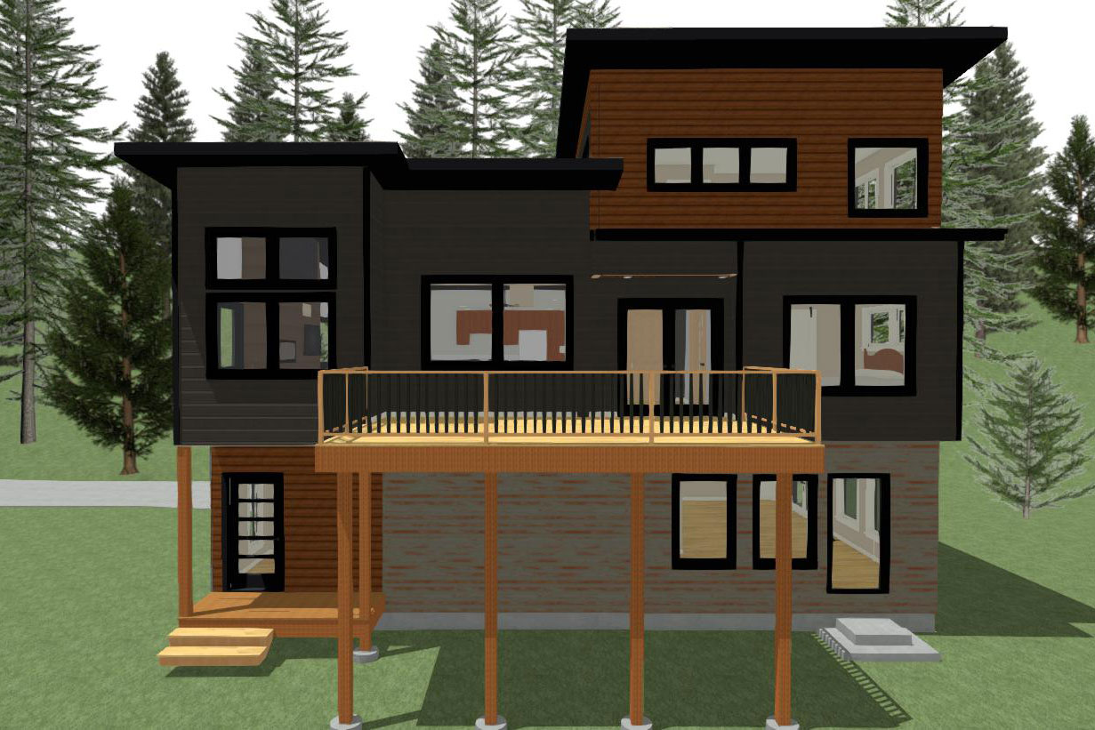 Digital Rendering view 2 of 2 story home