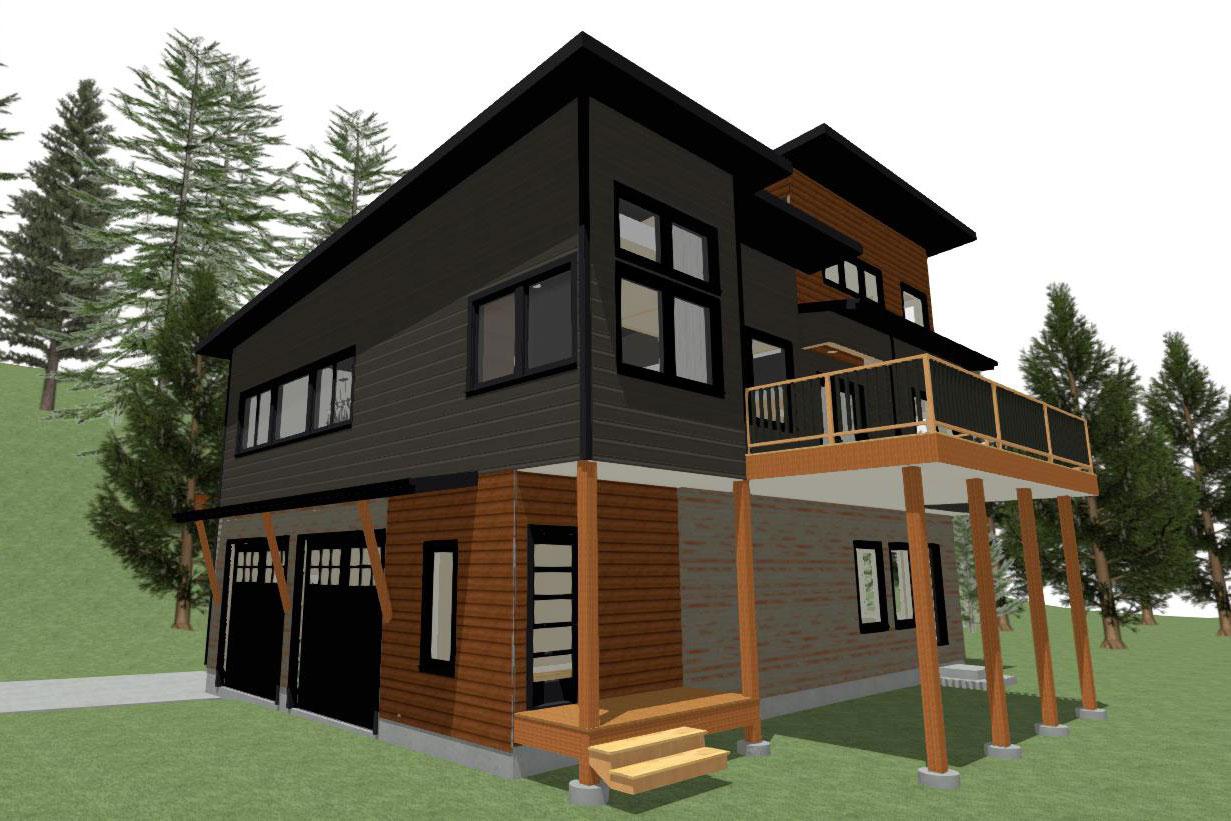 Digital Rendering view 3 of 2 story home