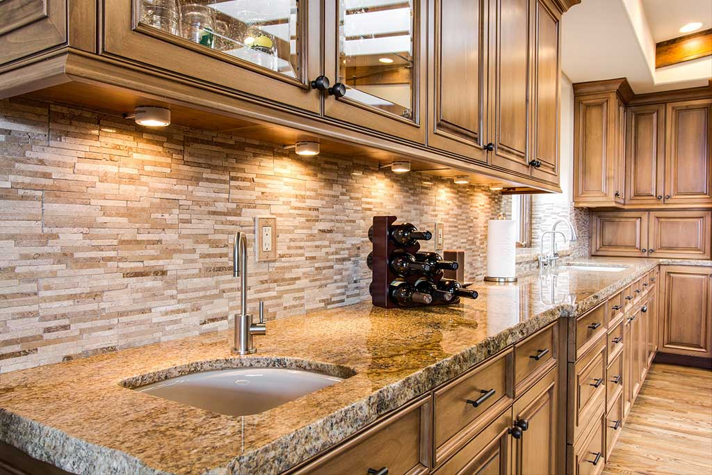 Rustic kitchen sink and counter remodel