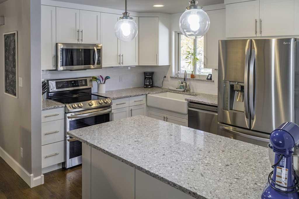Modern kitchen design installed by H3 Construction