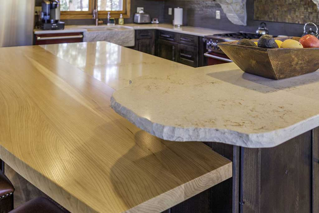 New kitchen countertop materials by h3 Construction