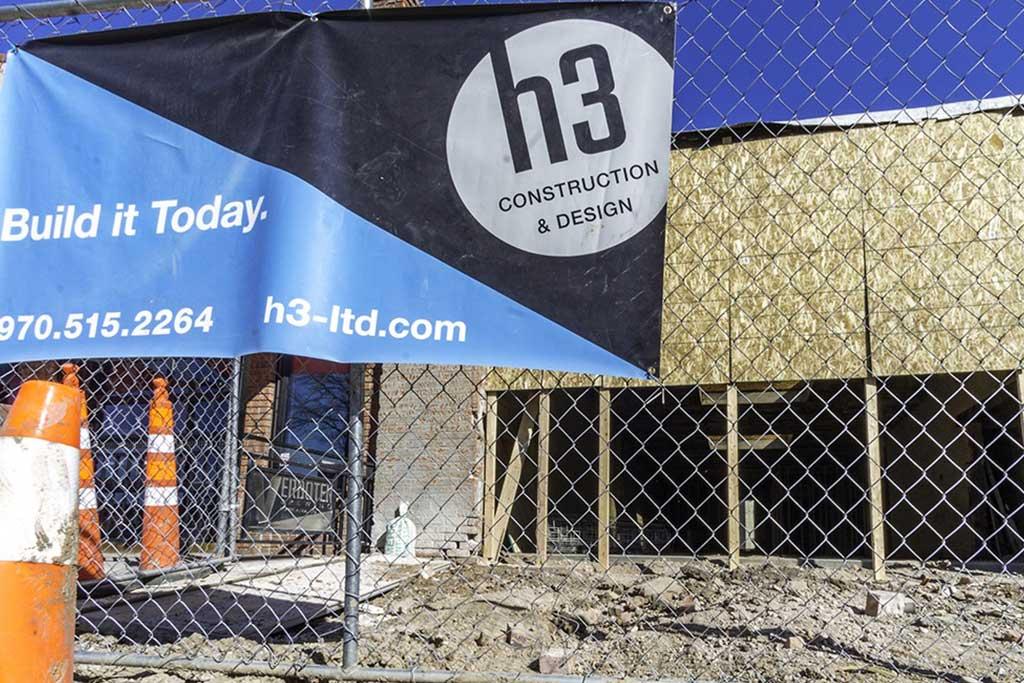 H3 construction zone in Colorado in progress