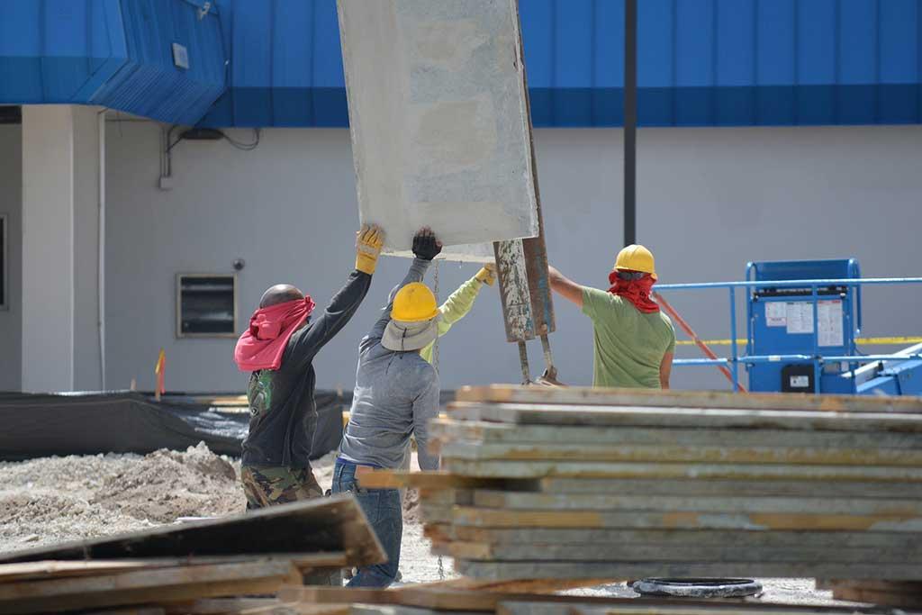 Denver construction contractors working on site
