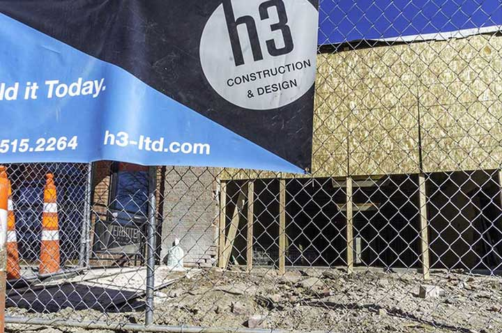 H3 Fort Collins commercial construction zone in progress