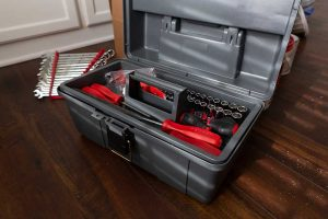 Toolbox filled with tools
