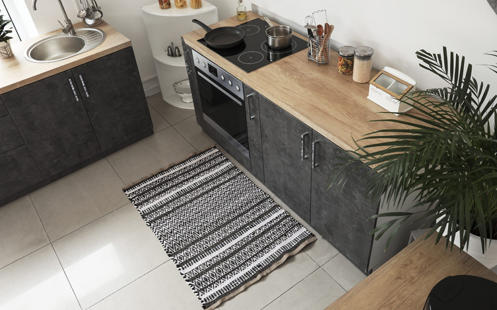Rug in small kitchen