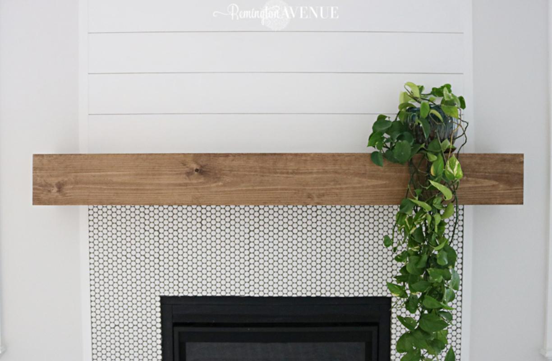 DIY Wood mantel place